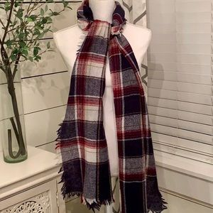 Madewell Scarf with Fringe Fray Trim